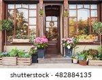 Flower Store Or Cafe Entrance...