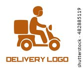 delivery logo template | Shutterstock .eps vector #482885119