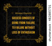 vector quote. success consists... | Shutterstock .eps vector #482885731