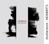 black abstract design. ink... | Shutterstock .eps vector #482888971