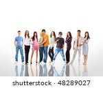 group of the young smiling... | Shutterstock . vector #48289027