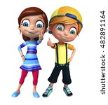 3d rendered illustration of kid ... | Shutterstock . vector #482891164