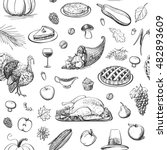 a collection of drawing... | Shutterstock .eps vector #482893609