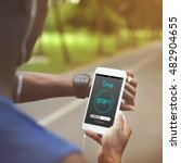 alarm clock time management... | Shutterstock . vector #482904655