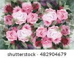 watercolor painting. background ... | Shutterstock . vector #482904679