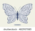 amazing fly butterfly. wild... | Shutterstock .eps vector #482907085