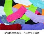textile colorful socks... | Shutterstock . vector #482917105