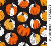 pumpkin pattern including... | Shutterstock .eps vector #482922271