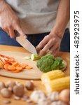 close up image of man preparing ... | Shutterstock . vector #482923975