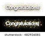 congratulations paper banner... | Shutterstock .eps vector #482926081