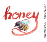 "hand written word ""honey"" and... 