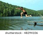 Summer Vacations   Boy Jumping...