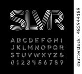 silver font. vector alphabet... | Shutterstock .eps vector #482944189