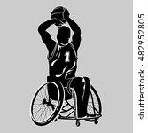 disabled basketball player....   Shutterstock .eps vector #482952805
