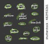 modern brush lettering organic  ... | Shutterstock .eps vector #482953261
