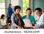 healthcare providers in an...   Shutterstock . vector #482961049