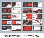business card templates.... | Shutterstock .eps vector #482964757