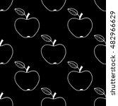 monochrome cartoon apple...   Shutterstock .eps vector #482966629