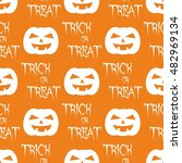 halloween tile pattern with... | Shutterstock . vector #482969134