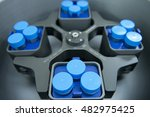 many tubes in the centrifuger | Shutterstock . vector #482975425