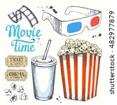 movie time vector illustration... | Shutterstock .eps vector #482977879