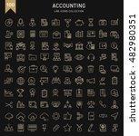 set vector line icons in flat... | Shutterstock .eps vector #482980351