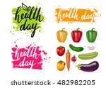 group of photo realistic vector ... | Shutterstock .eps vector #482982205