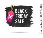 black friday sale. promo... | Shutterstock .eps vector #482984107