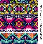 neon colors tribal vector... | Shutterstock .eps vector #482984737