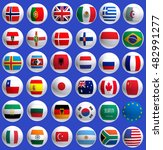 image of flags of countries...   Shutterstock . vector #482991277