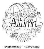 autumn set vector doodle sketch.... | Shutterstock .eps vector #482994889