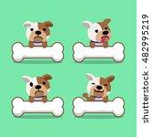 cartoon character bulldog with...   Shutterstock .eps vector #482995219