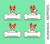 cartoon character basenji dog... | Shutterstock .eps vector #482995651