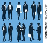 business people silhouettes.... | Shutterstock .eps vector #482997649