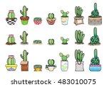 cactus set | Shutterstock .eps vector #483010075