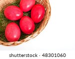some easter eggs isolated on... | Shutterstock . vector #48301060