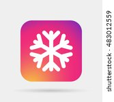 snowflake icon | Shutterstock .eps vector #483012559