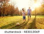 happy family playing in nature... | Shutterstock . vector #483013069