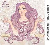 zodiac. vector illustration of... | Shutterstock .eps vector #483015895