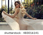 fashion photo of gorgeous young ... | Shutterstock . vector #483016141