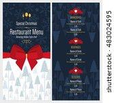 special christmas festive menu... | Shutterstock .eps vector #483024595