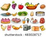 food and ingredients set... | Shutterstock .eps vector #483028717
