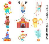 circus related objects and... | Shutterstock .eps vector #483033511