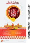 diwali offer poster design... | Shutterstock .eps vector #483035839