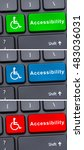 Small photo of Close-up view on conceptual keyboard with web or online accessibility