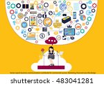 vector search business... | Shutterstock .eps vector #483041281