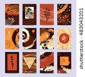 fall festival poster  greeting... | Shutterstock .eps vector #483043201