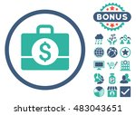 accounting case icon with bonus.... | Shutterstock . vector #483043651