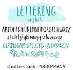 funny vector alphabet for... | Shutterstock .eps vector #483044659