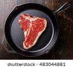 Raw Fresh Meat T Bone Steak On...